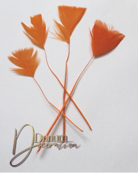 Dekorációs toll / Élénknarancs