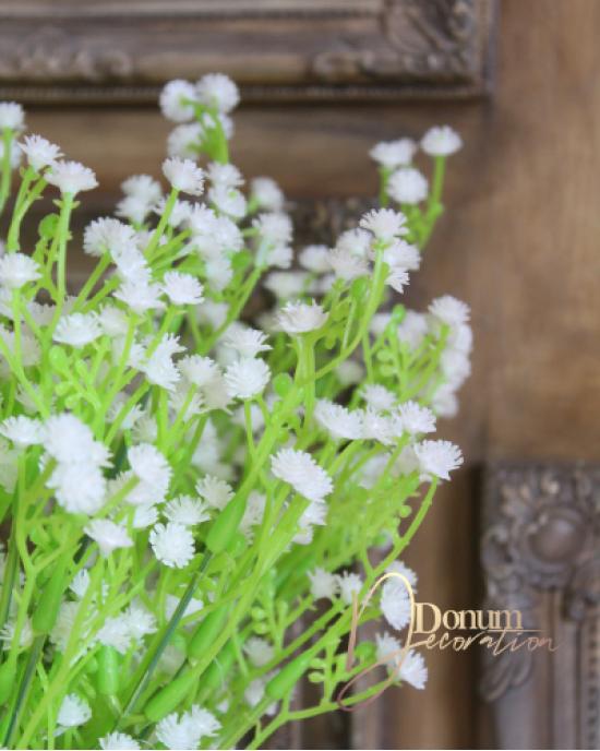 Műanyag virágcsokor / Fehér