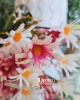 14 virágfejből álló csokor / Antikrózsaszín fehérrel