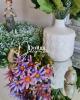 14 virágfejből álló csokor /  Indigó fakómályvával