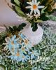 14 virágfejből álló csokor / Antikkék lehelet zölddel