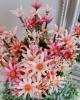 14 virágfejből álló csokor / Antikpink amaránttal