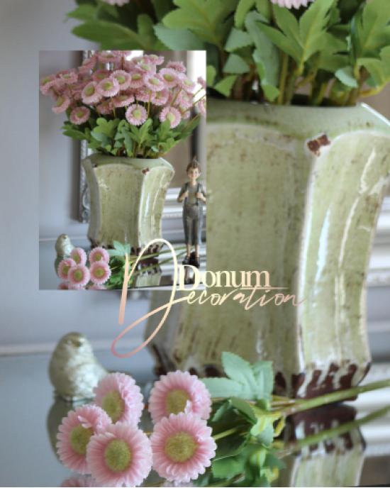 5 fejes virágszál / Pasztell halványrózsaszín