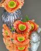 Virágfej szárral / Narancs