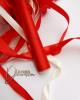Strasszos menyasszonyi csokor / Piros